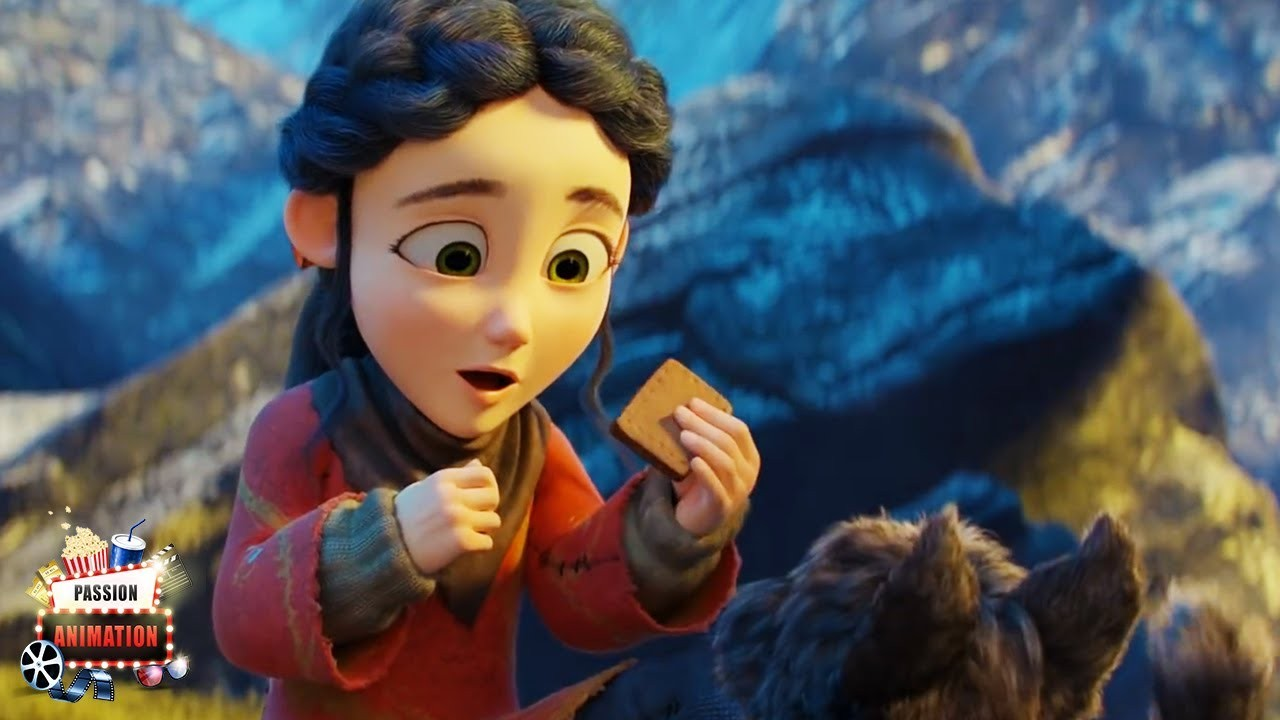 A shepherd girl and her dog face mysterious Spirits- -SPRING- 3D CGI Animated Short Film